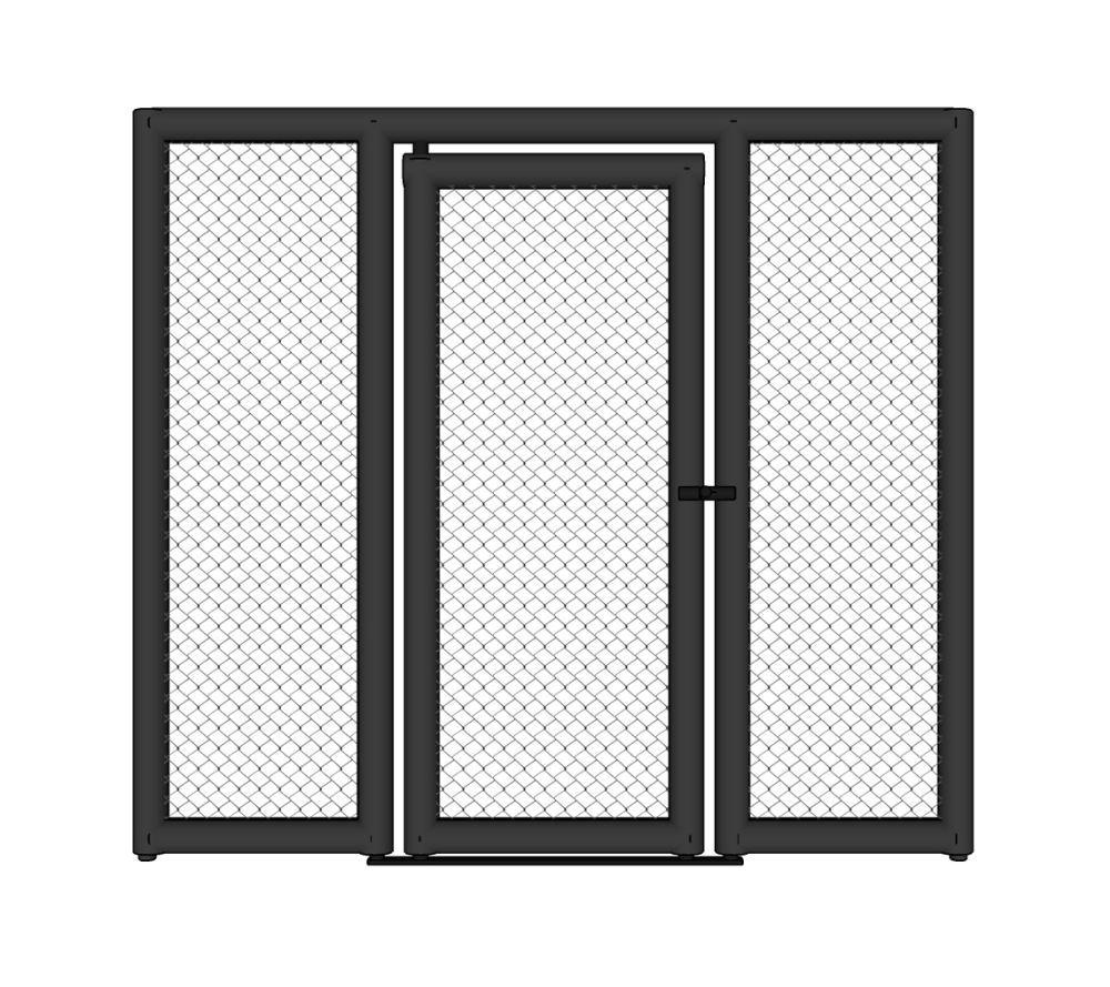 Panneau de cage MMA avec porte