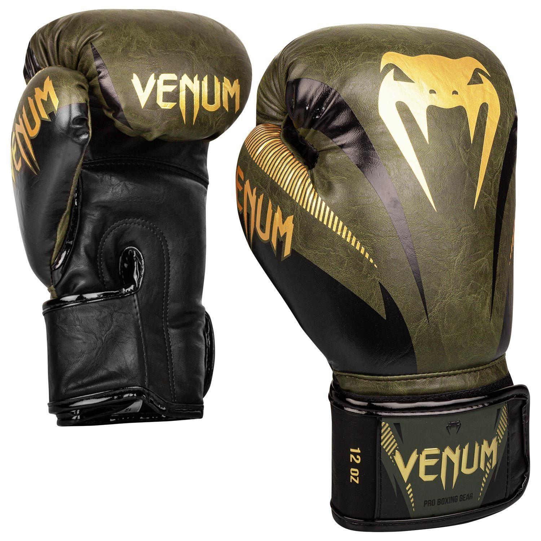 Gants de boxe Venum impact Kaki et doré