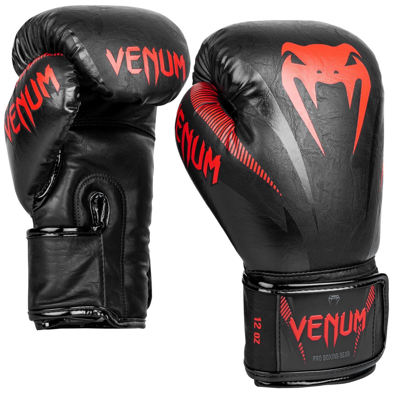 Gants de boxe Venum impact Noir et Rouge
