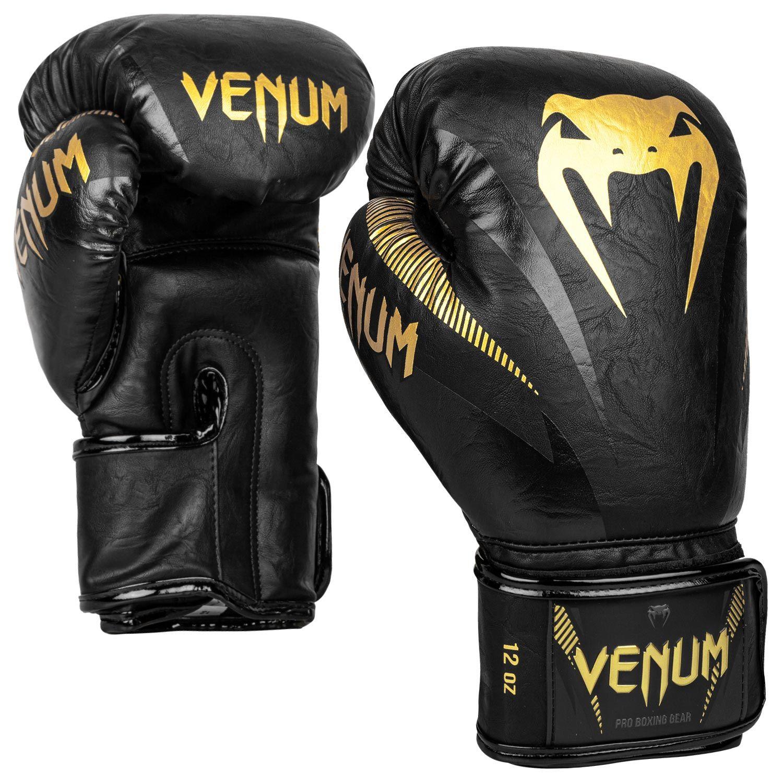 Gants de boxe impact Venum Noir et Or