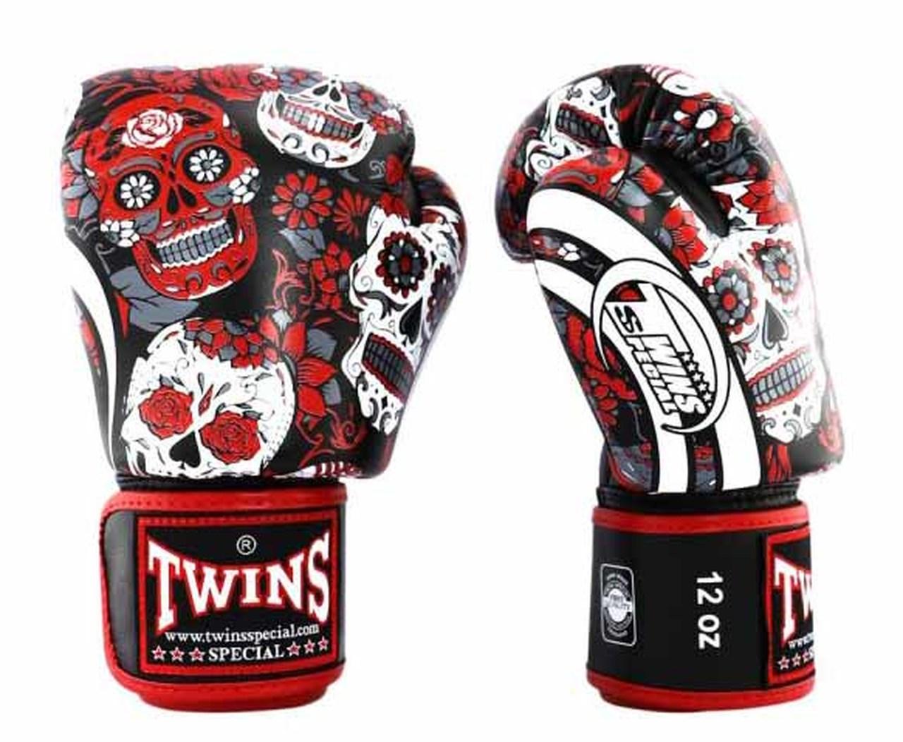 Gants de boxe Twins skull Rouge