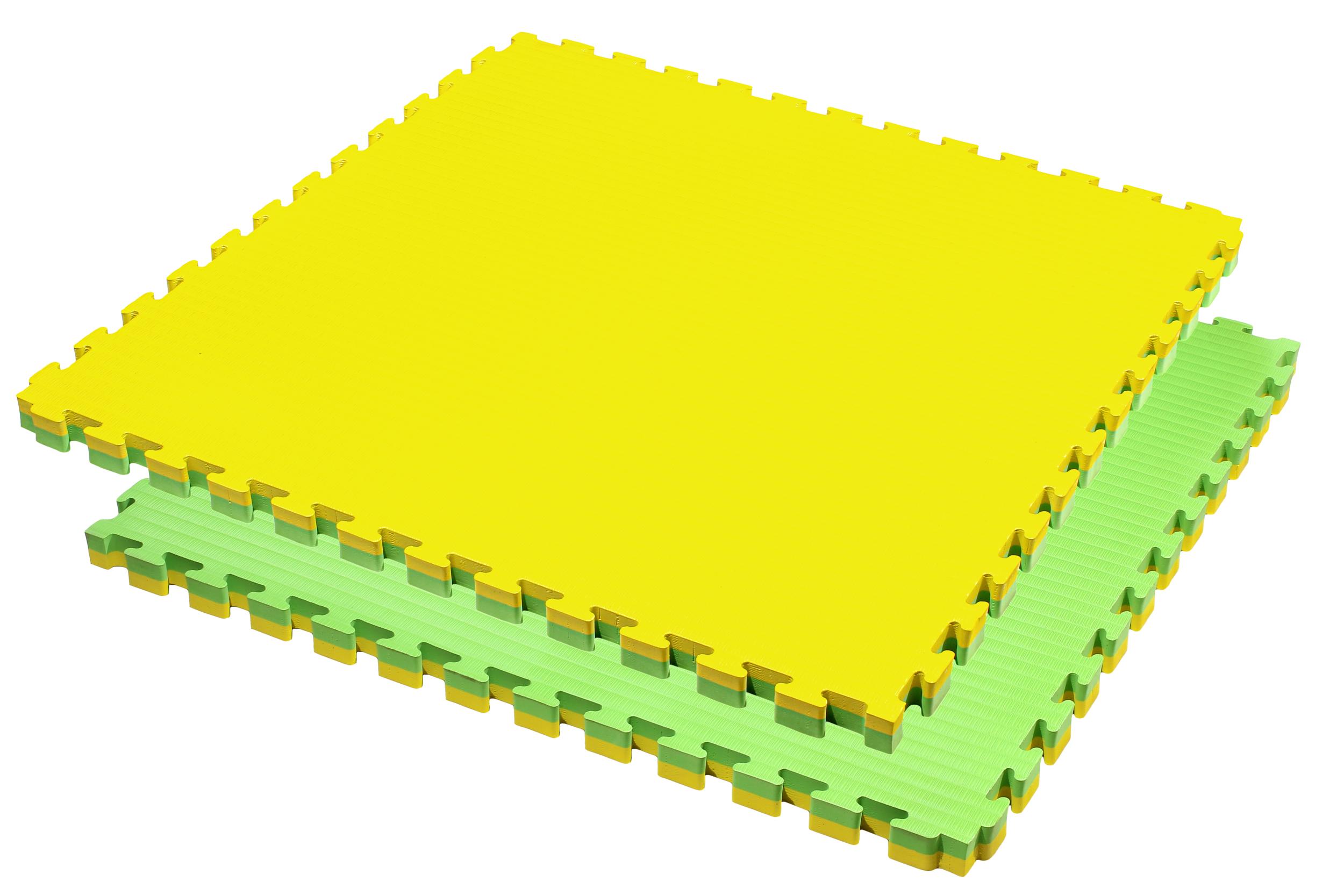 Tatamis puzzle Jaune et Vert 4 cm