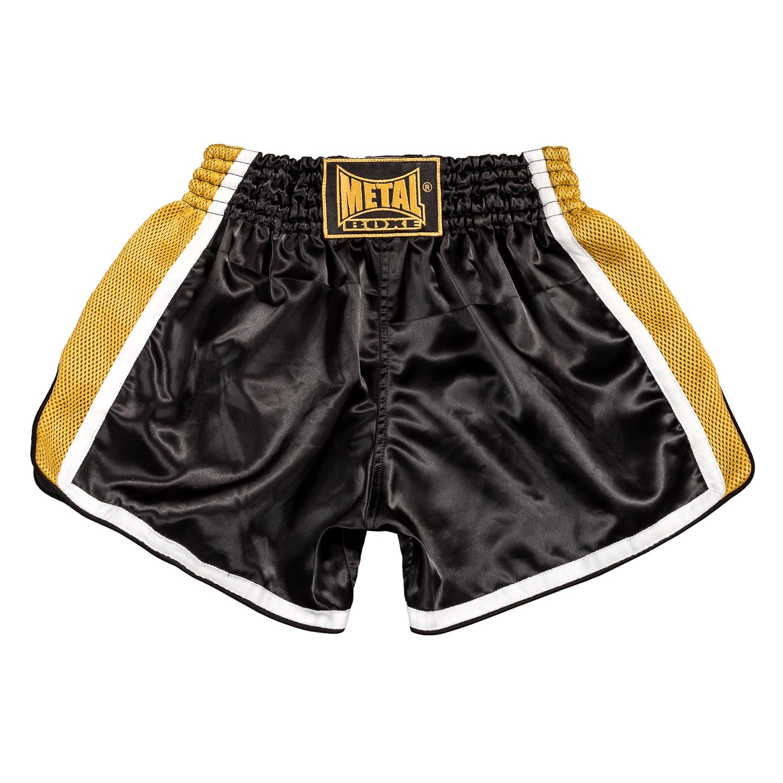 Short Métal boxe Extrem Noir et Doré