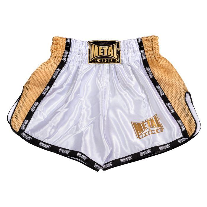 Short Métal boxe Extrem Blanc et doré