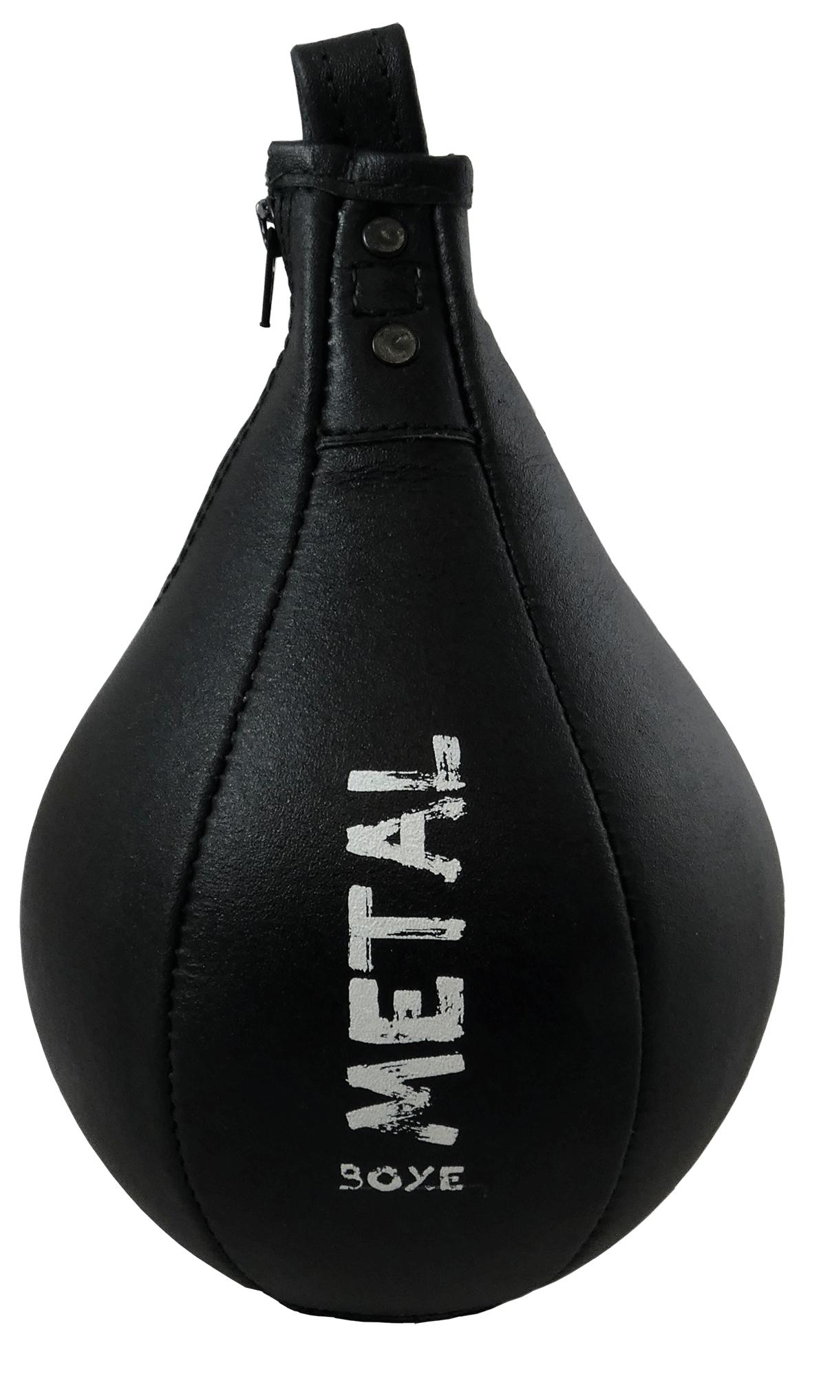 Poire de vitesse en cuir Métal boxe Héraclès