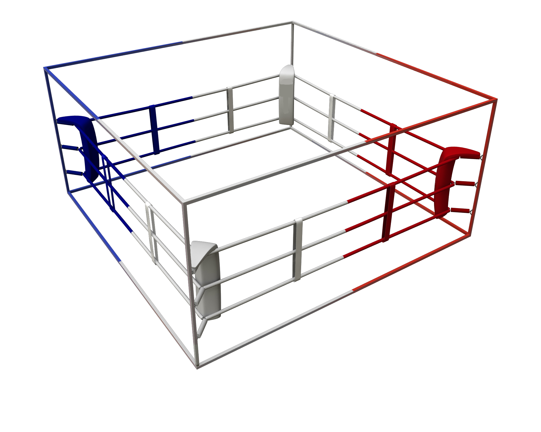 Ring de boxe démontable