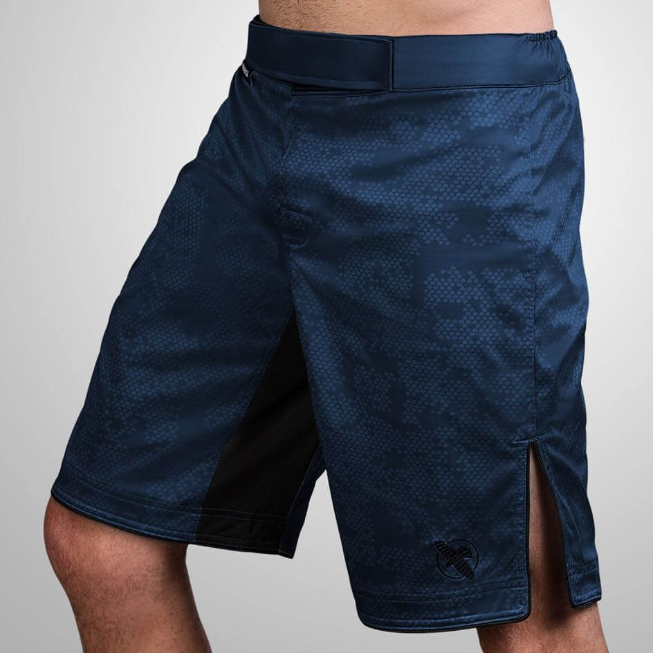 Fightshort Hayabusa hexagon Bleu