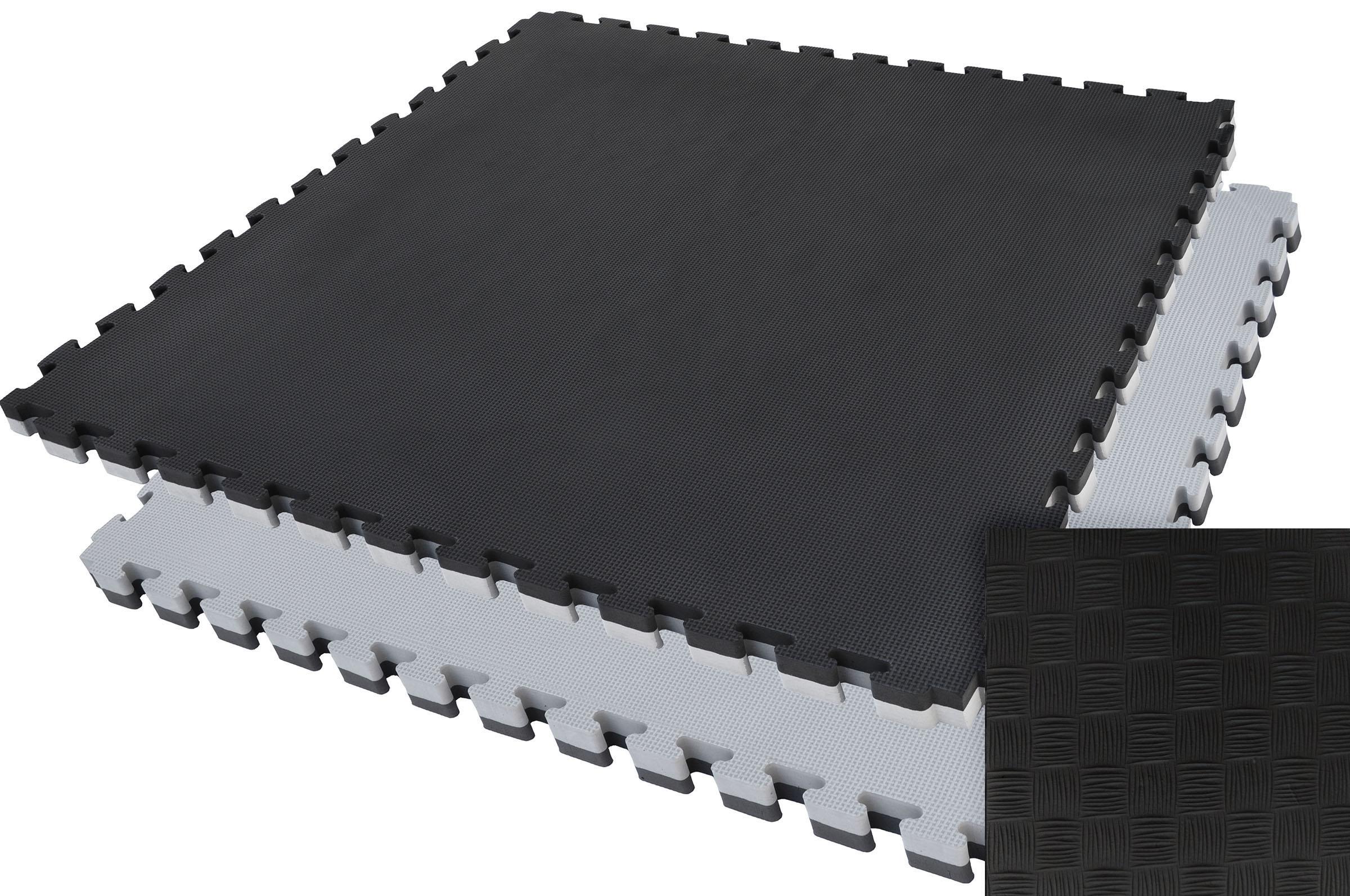Tatamis puzzle Noir et Gris 2.5 cm finition paille de riz
