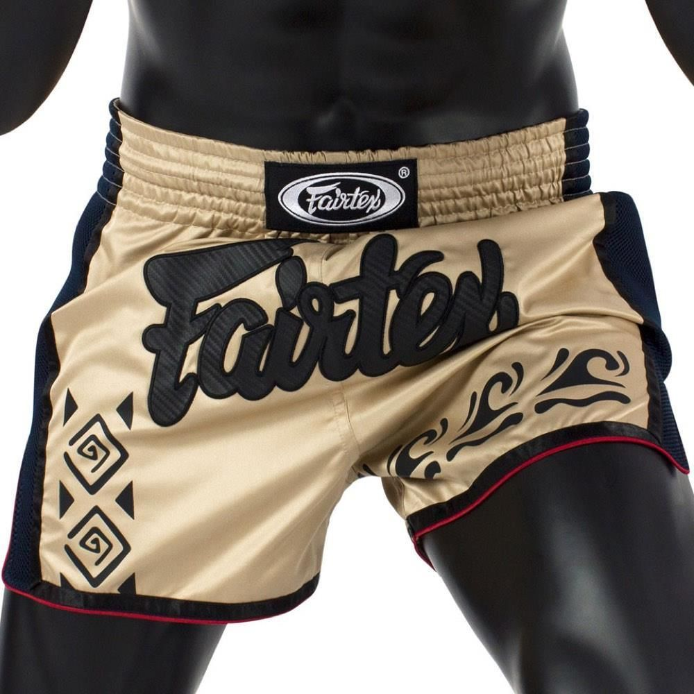 Short boxe Thaï Fairtex Khaki