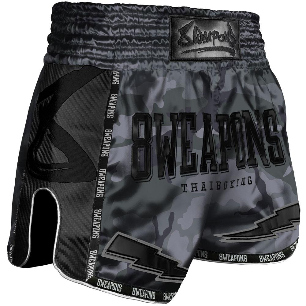 Short de boxe Thaï 8 Weapons carbon Night