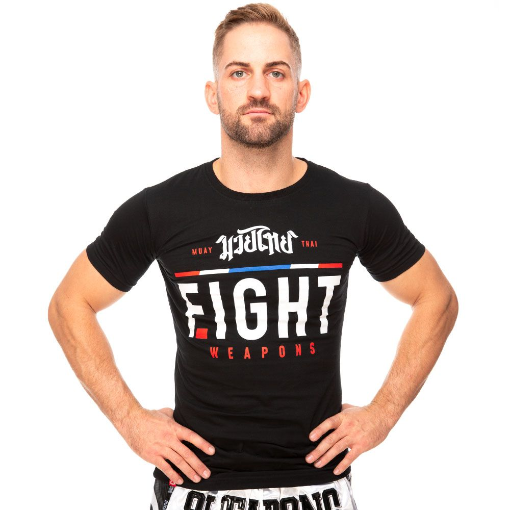 T-shirt 8 Weapons the fight black