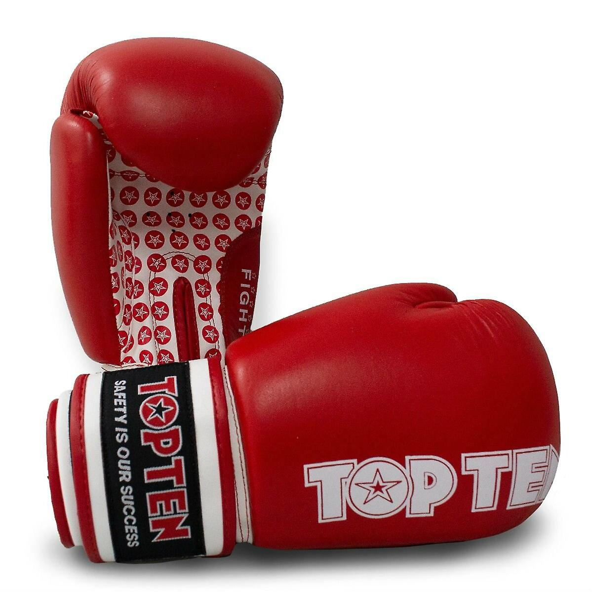 Gants de boxe Top Ten Fight Rouge