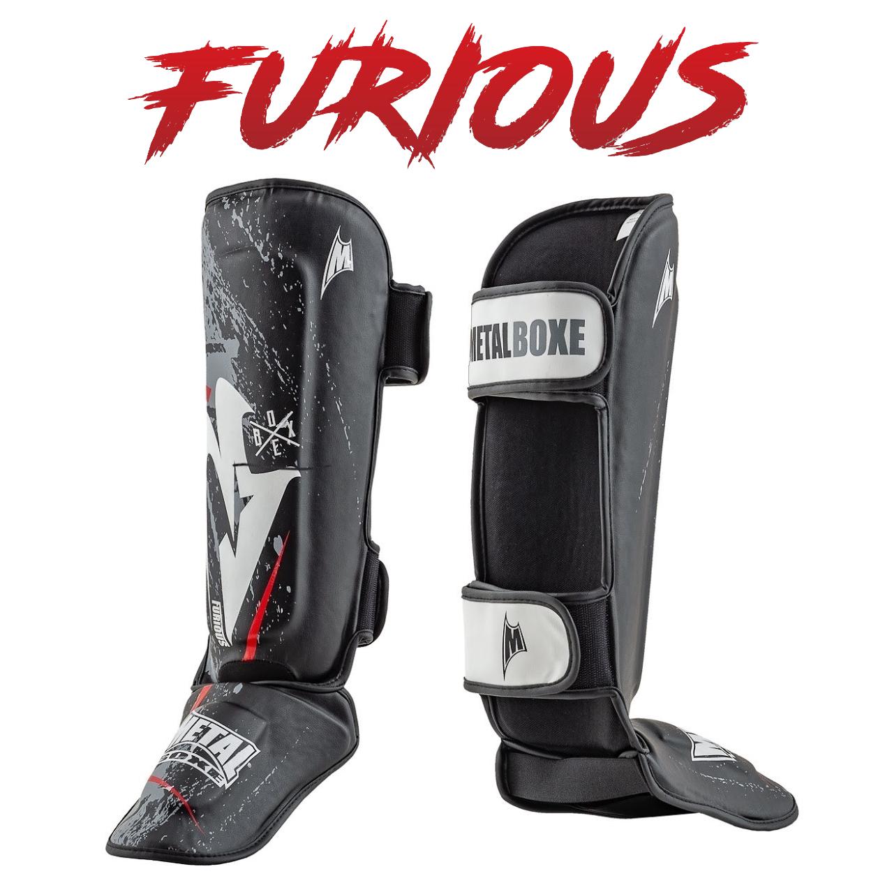 Protège tibias Furious Métal boxe