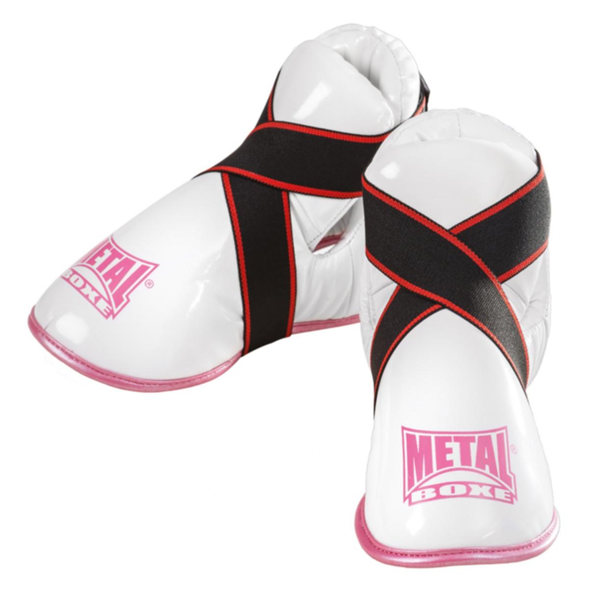 Protège pieds Métal boxe Blanc et Rose