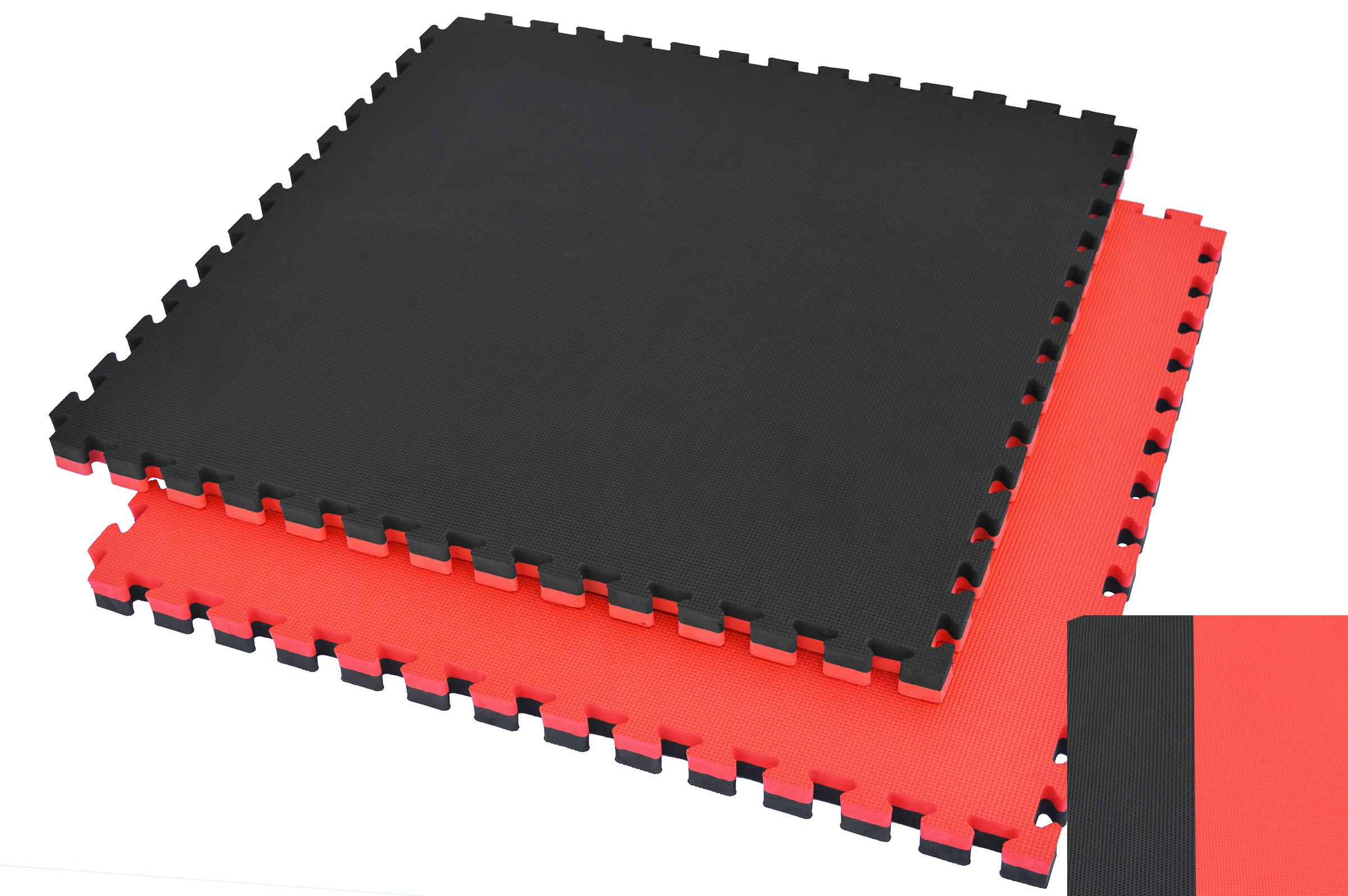Tatamis puzzle 2 cm Rouge et Noir finition T