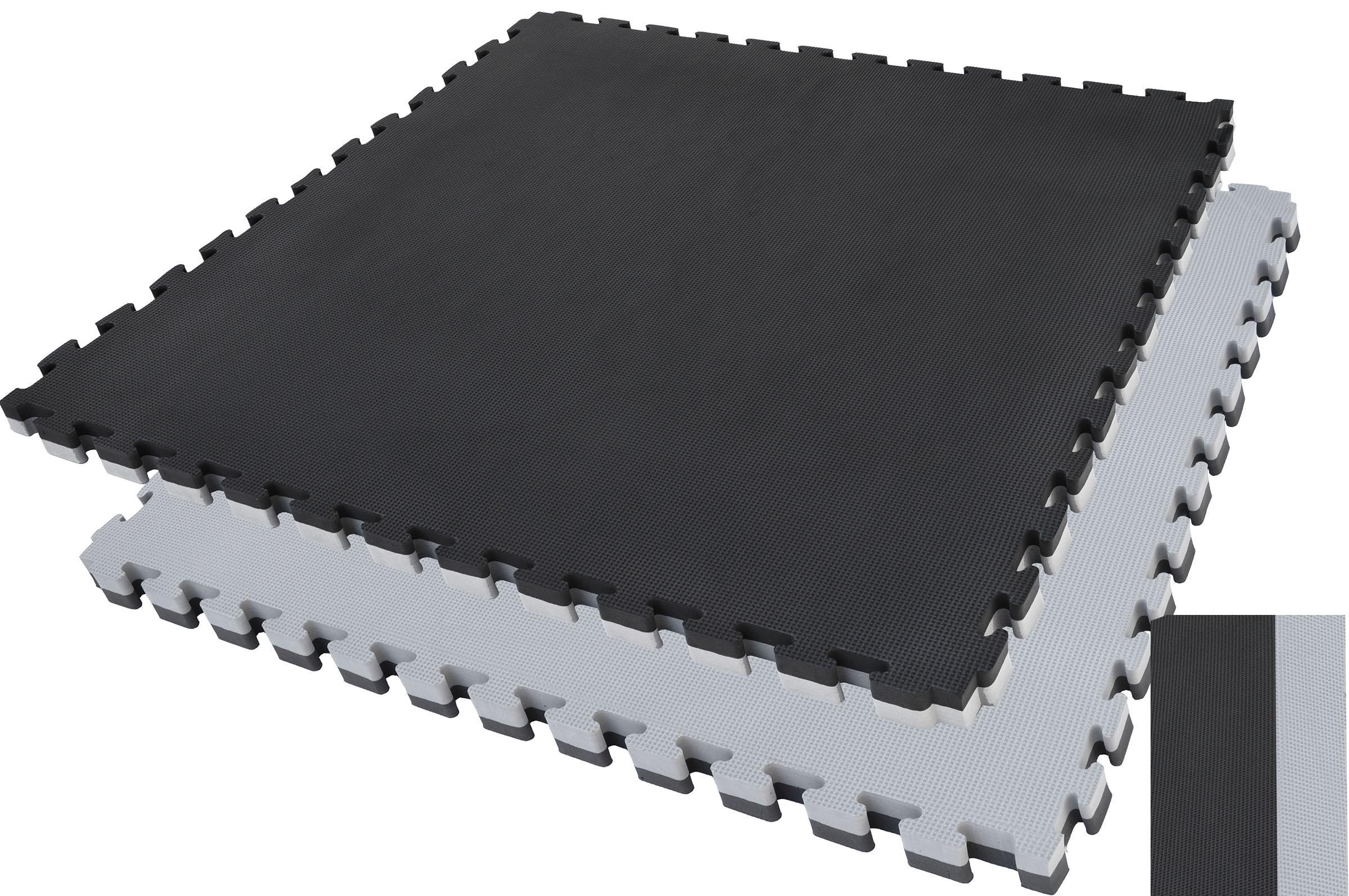 Tatamis puzzle Noir et Gris 2.5 cm finition T