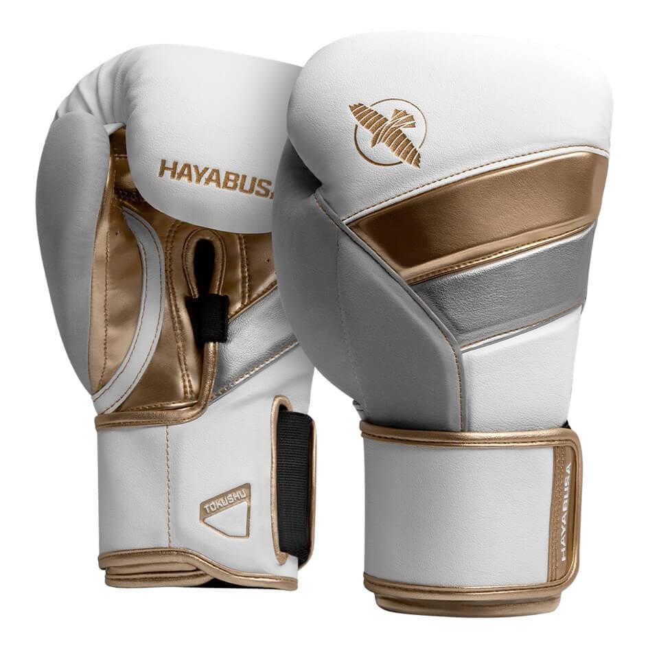 Gants de boxe Hayabusa T3 blanc et Or