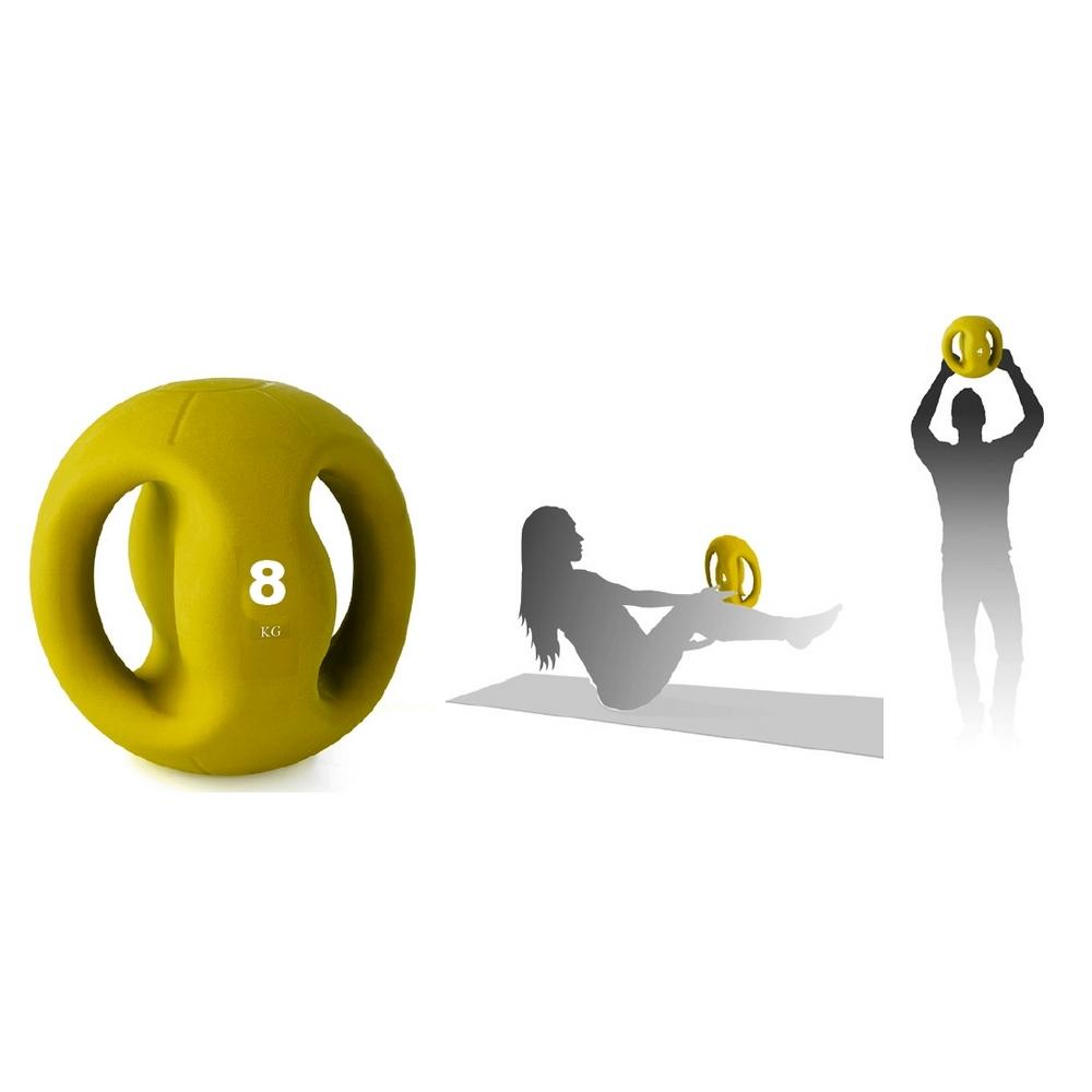 Medecine ball avec poignées 8 kg