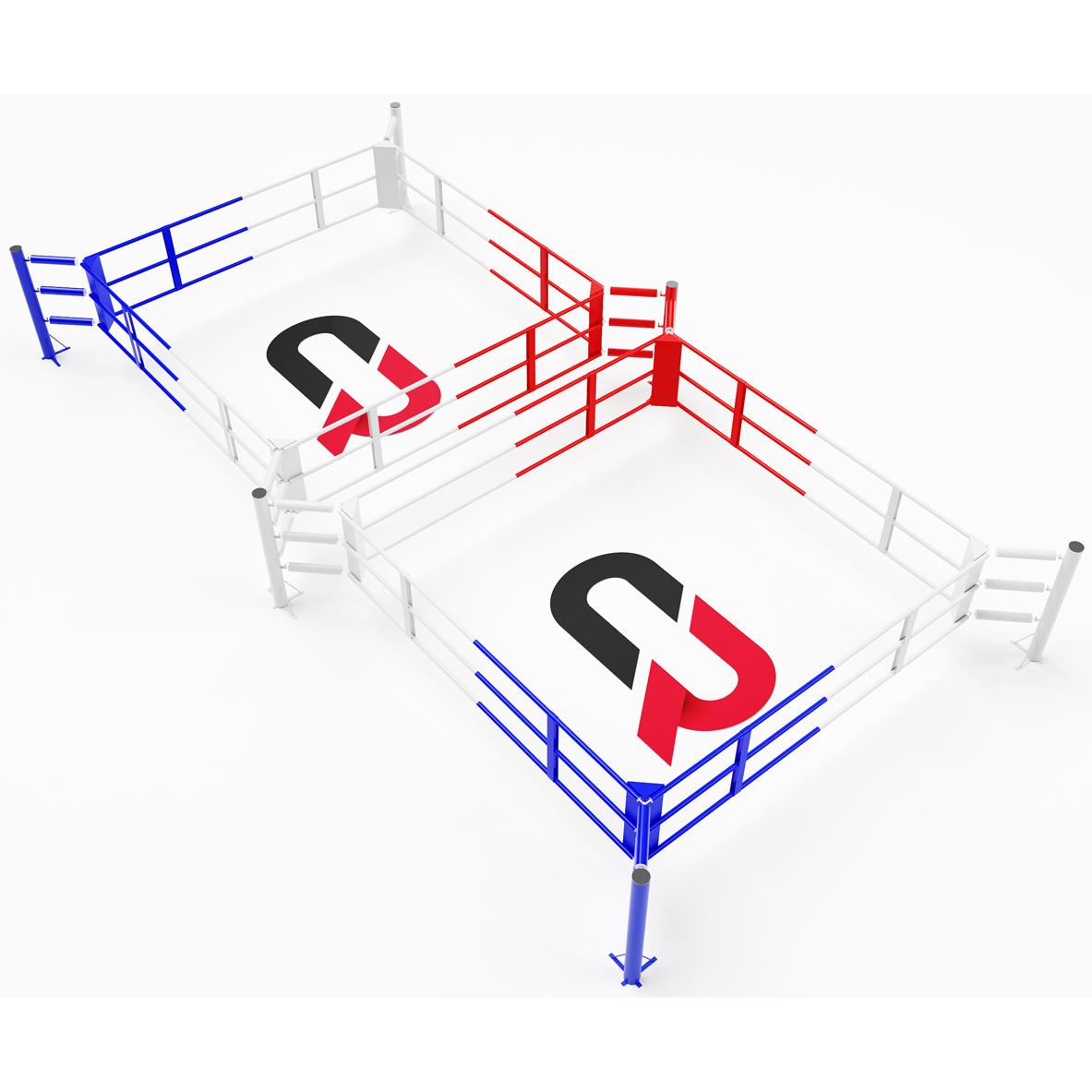 Ring de boxe double