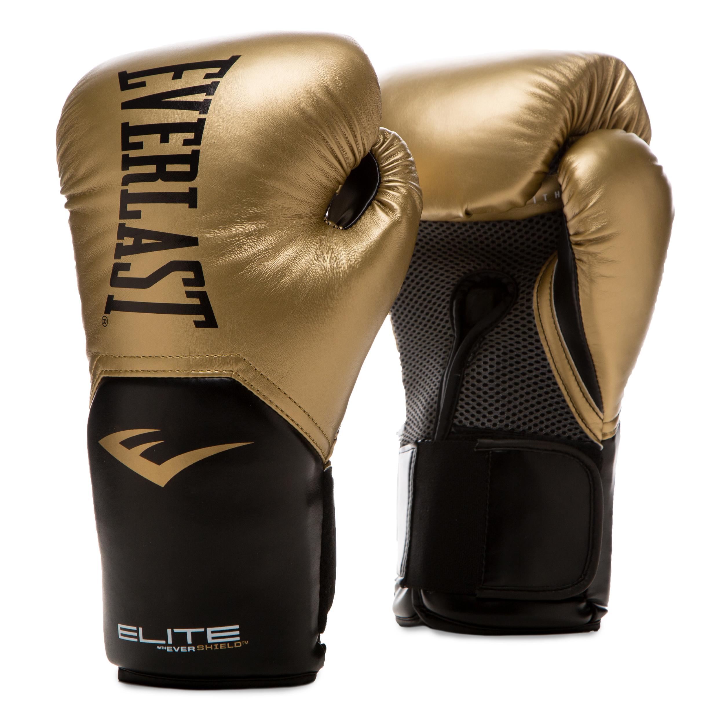 Gants de boxe Everlast Pro style elite Gold