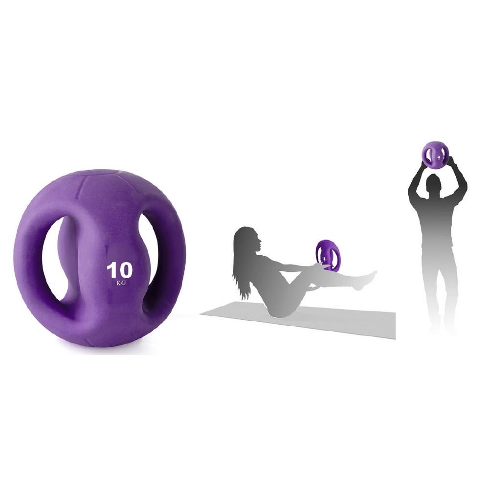 Médecine ball avec poignées 10 kilos