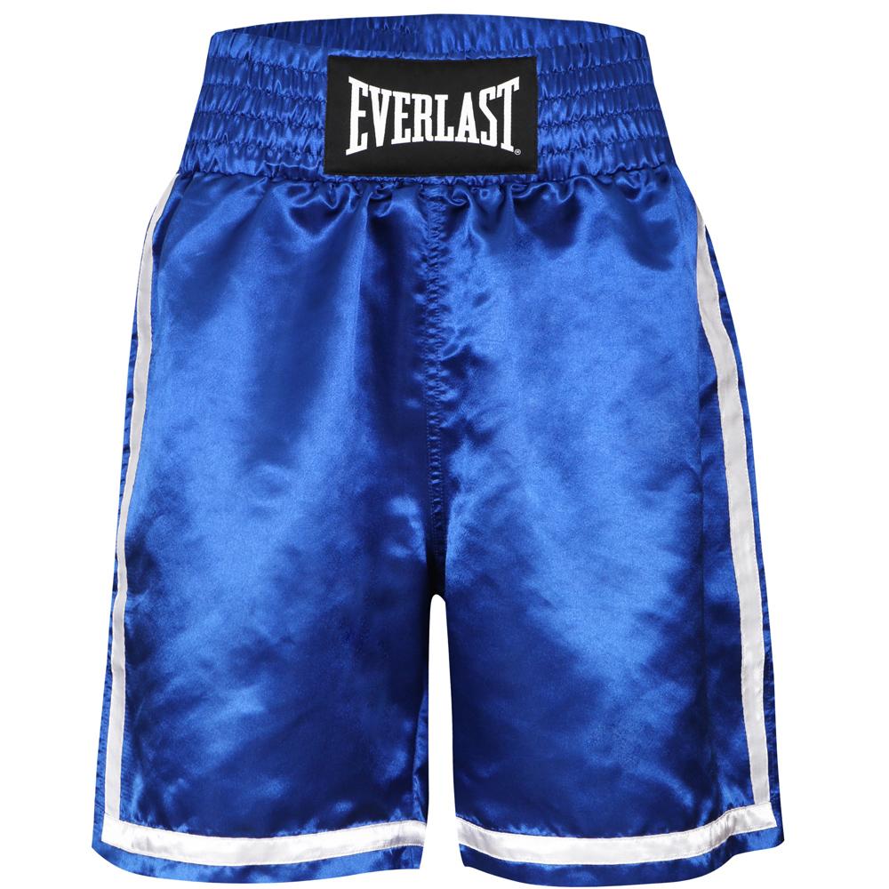 Short de boxe Anglaise Everlast Bleu competition