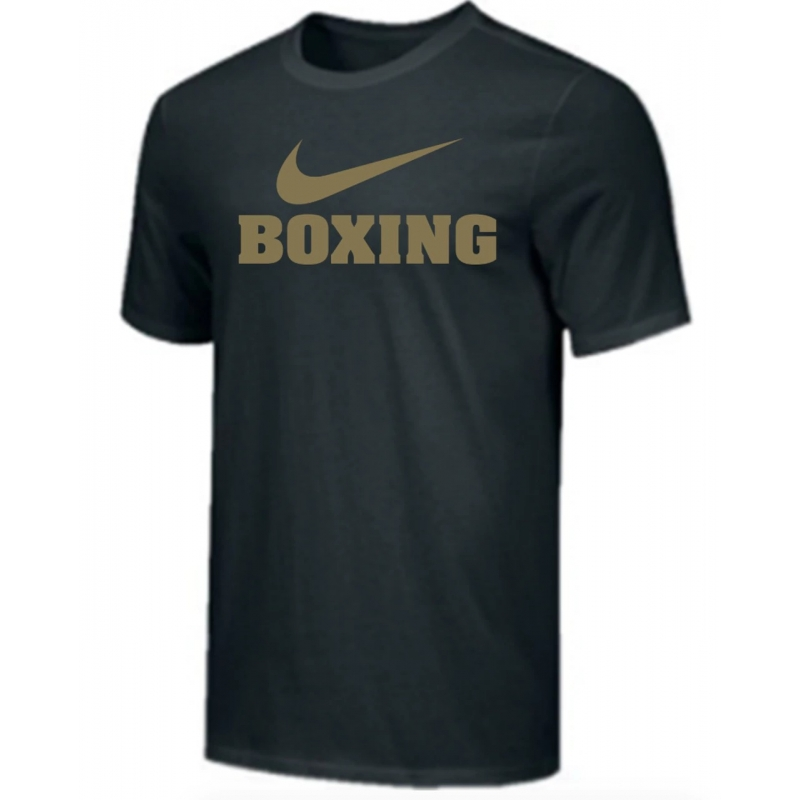 T-shirt Nike boxing Noir et Or