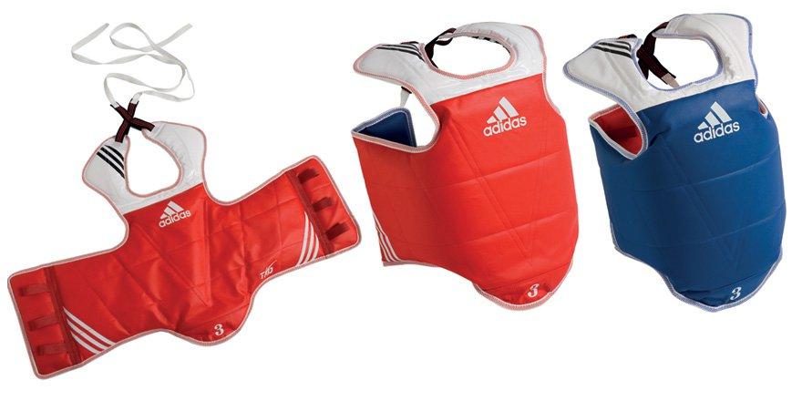 Plastron Taekwondo Adidas réversible