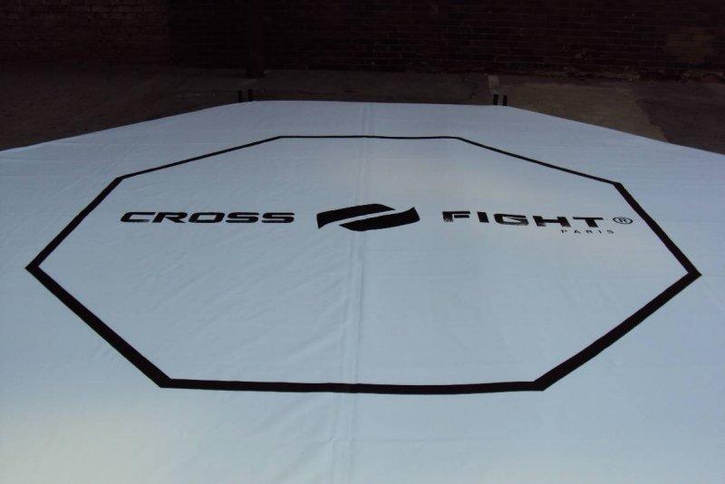 Bâche octogone pour cage MMA