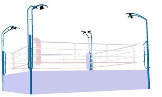 Éclairage pour ring de boxe