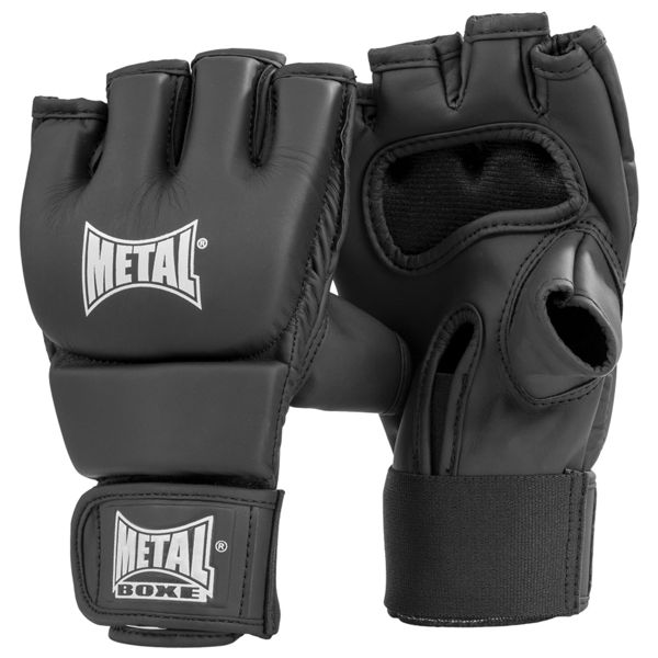 Gants combat libre Métal boxe black light