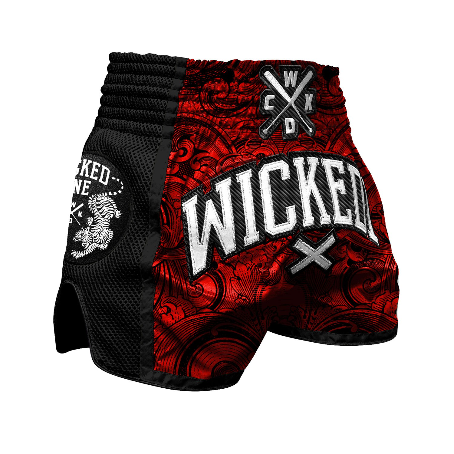 Short muay Thaï Wicked one rude Rouge