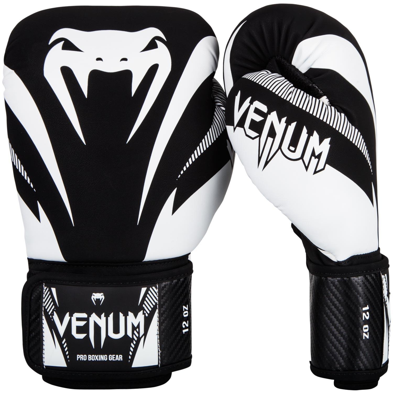 Bien-aimé Gants de boxe Venum impact noir et blanc - lecoinduring NJ19