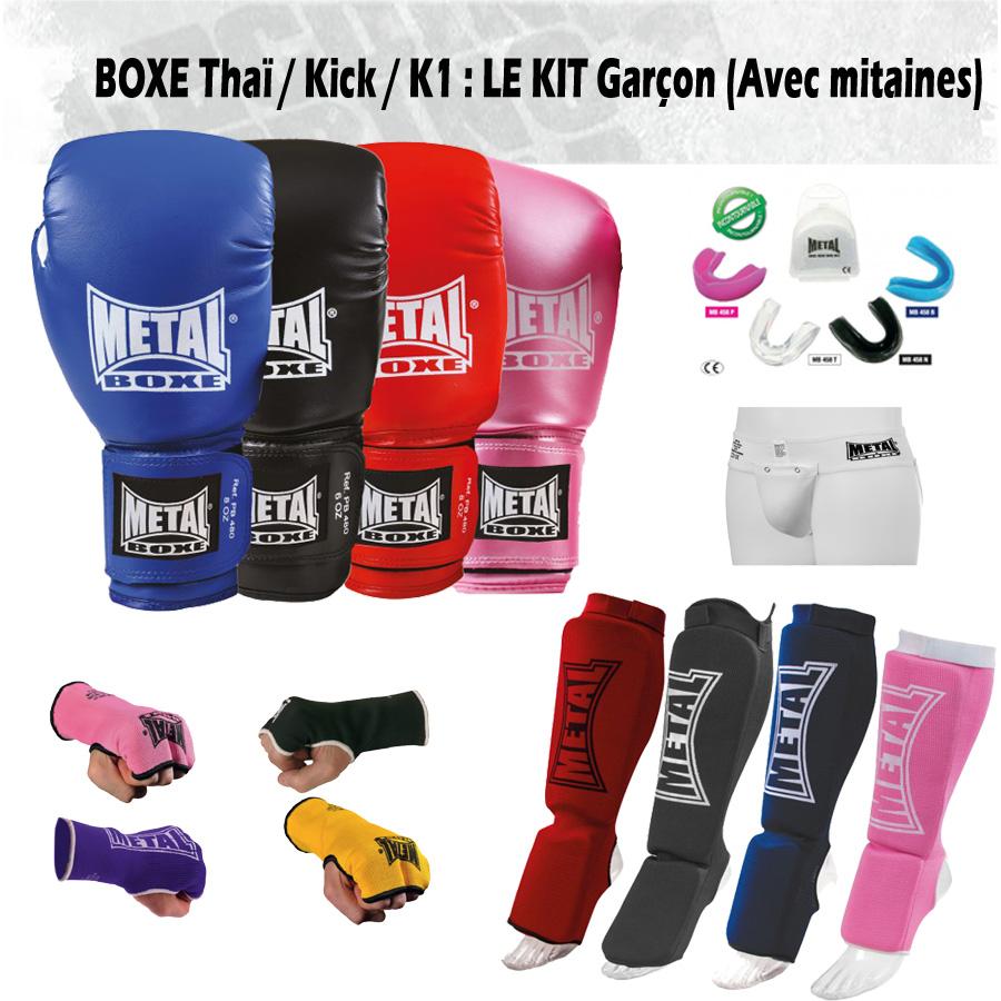 Pack Boxe Thaï Garçon