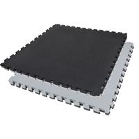 Tatamis puzzle Noir et Gris finition T épaisseur 2 cm