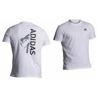T-shirt blanc Adidas impression Judo