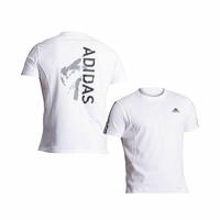 T-shirt blanc Adidas impression Taekwondo (Blanc, S)
