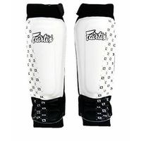 Protège tibias Fairtex SP6 Blanc