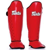 Protège tibias Fairtex Rouge
