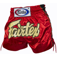 Short Thaï à lacets FAIRTEX rouge