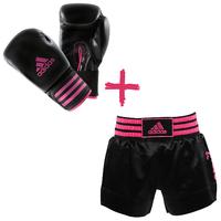 Kit Short et Gants de Boxe Adidas