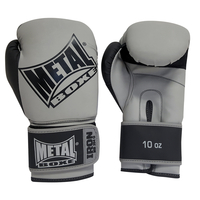 Gants de boxe Métal boxe Iron Gris et Noir