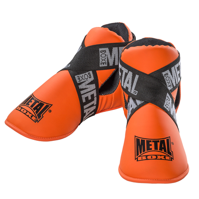 protege-pieds-full-contact-metal-boxe-orange