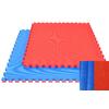 Tatamis puzzle 4 cm Rouge - Bleu finition paille de riz
