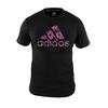 T-shirt Adidas graphic noir et rose