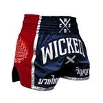 short-de-boxe-thai-wicked-one-flag