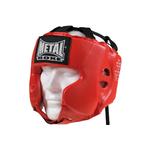 casque-metal-boxe-rouge