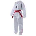 dobok-taekwondo-adidas-bande-rose