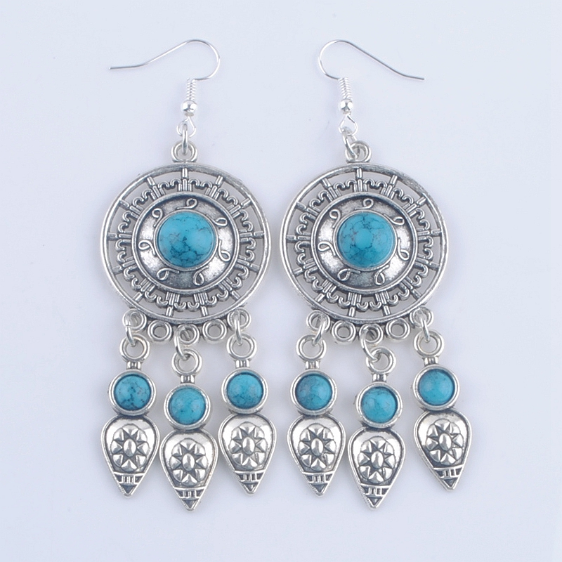 boucle d\'oreille howlite turquoise