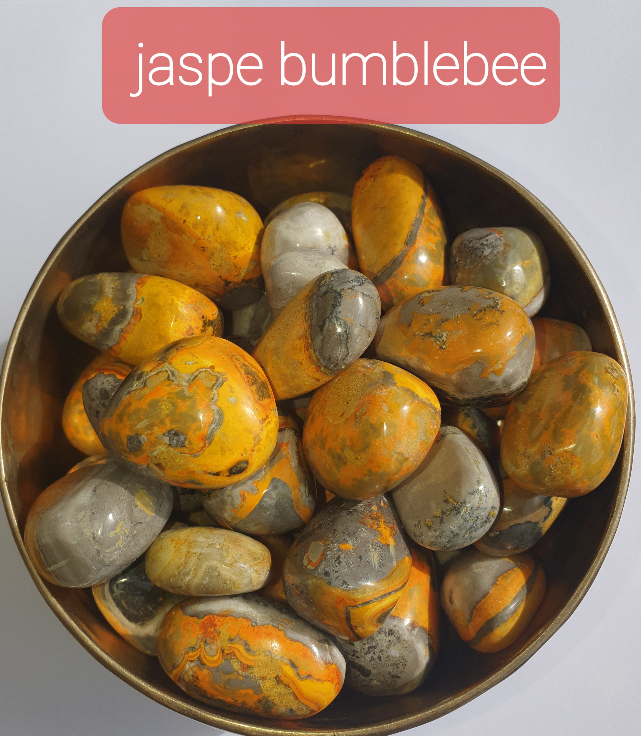 pierre roulee jaspe bumblebee